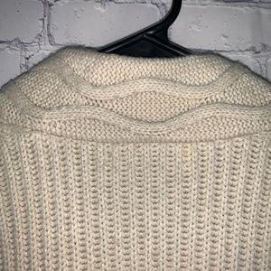 BB Dakota Sweaters - BB Dakota Cream Cableknit Cardigan